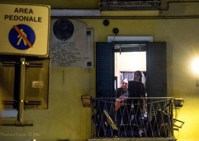 Valeria Crescenzi al concerto dai balconi
